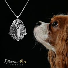SiberianArt - Art work by Amit Eshel. www.siberianartjewelry.etsy.com Cavalier-King-Charles