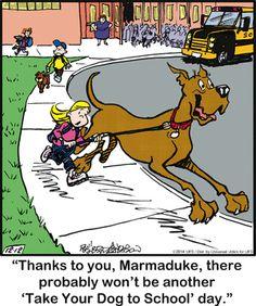 Marmaduke Comic Strip  for Dec/12/2014  on GoComics.com