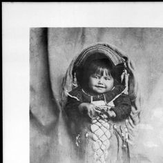 Portrait of a Paiute Indian papoose, ca.1900 :: California Historical Society Collection, 1860-1960