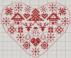 Pretty cross stitch pattern from French blogger Gazette94.