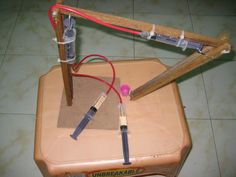 how to build a hydraulic crane for school - Google Search