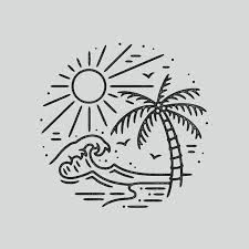 Pin By Kai On Wallpapers Drawings Beach Drawing Easy Doodle Art, Doodle Drawings, Easy Drawings, Tattoo Drawings, Drawing Sketches, Pencil Drawings, Tattoo Sketches, Drawing Ideas, Kritzelei Tattoo