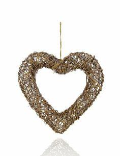 Heart Shaped Rattan Wreath-Marks & Spencer