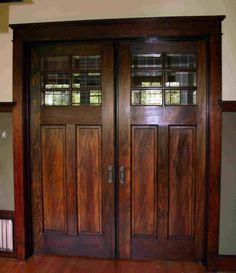 Craftsman Pocket Door...love love love. Want for bathroom