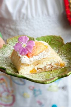 Paula Deen Peaches and Cream Cheese Filo Strudel
