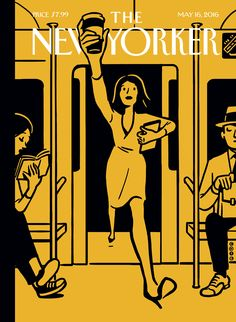 """The New Yorker - Monday, May 16, 2016 - Issue # 4639 - Vol. 92 - N° 14 - « The Innovators Issue » - Cover """"On the Go"""" by Christoph Niemann 2/2"""