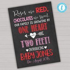 Valentines Day Pregnancy Announcement Valentines Pregnancy #pregnancysigns,