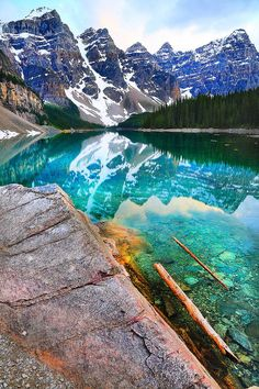 Moraine Lake Reflections, Banff National Park, Canada | See More http://www.pinspopulars.com/22-photographs-will-prove-that-canada-is-a-not-to-be-missed-spot-for-travel-this-year/