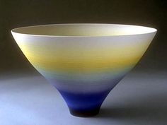 Ceramics by Peter Lane at Studiopottery.co.uk - Yellow-blue porcelain bowl.  Love my kitchen color's