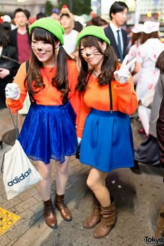 Mickey and goofy costume family photos pinterest goofy two cute matching costumes at the shibuya halloween street party in tokyo this solutioingenieria Choice Image