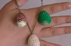 Game of Thrones Dragon Egg Charms | 29 Geek DIY's To Make Right Now