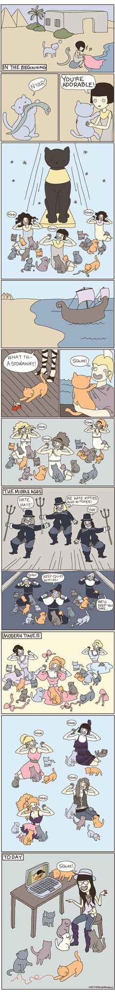 Yessss!!! This is the point of this whole board - why cats and feminism are really, really related!!!