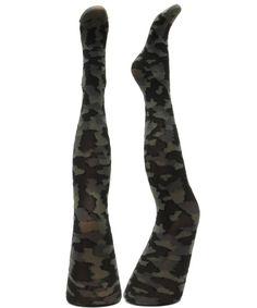Camouflage mønstret Strømpebukser
