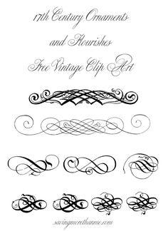 Free Clip Art: Vintage Ornaments + Flourishes