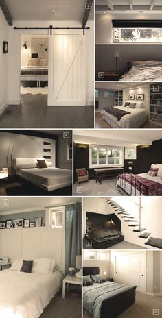 Unfinished Basement Ideas - Wondering ways to make the most from your unfinished cellar? Look into these unfinished basement ideas Cool Basement Ideas, Modern Basement, Basement House, Basement Bathroom, Basement Layout, Basement Master Bedroom, Dark Basement, Diy Bedroom, Basement Bedrooms Ideas