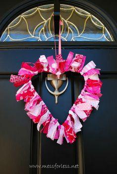 Valentine Decoration, Fabric Wreath