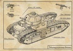 heavy tank Kronprinz by TugoDoomER on DeviantArt Steampunk, Tank Drawing, Ww1 Tanks, Maximilian I, Valkyria Chronicles, Tank Design, Diesel Punk, Art Station, Panzer