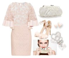 """""""emma robert look scream queens ♡"""" by faanciella ❤ liked on Polyvore featuring Badgley Mischka, Alice McCall, Topshop, Carlo Fellini and ScreamQueens"""