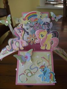 Pony's over the rainbow by crazykim - Cards and Paper Crafts at Splitcoaststampers