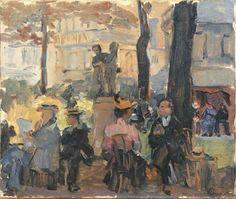 Jour d'été à Paris, Isaac Israels. Dutch Impressionist Painter (1865 - 1934)
