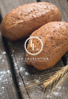 Conception d'une nouvelle identité visuelle pour la boulangerie /patisserie / chocolaterie La Laurentine @ La Langue du Caméléon : agence de design stratégique et créatif pour les marques digitales. www.cameleons.com