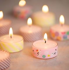 Make adorable tea lights with this tutorial.   AND 45 BEST Spring Party & Decor Tutorials EVER with their LINKS!!! GIFT, PARTY, EVENT, SPRING, WEDDING DECOR. Blog & Photos from MrsPollyRogers.com