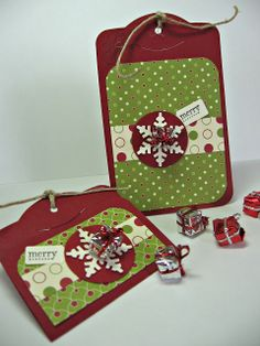 stamping up north: Stamping Up two tags die...Christmas tags