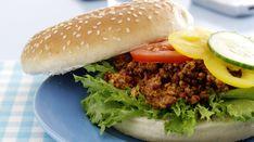 Texasburger med hakket svinekød