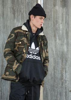 Carhartt camo jacket and hoodie by adidas Originals.
