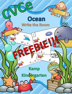 FREEBIE!!!  Engaging CVCe Literacy Center for Your Little Learners    #Free  #freebie  #ocean  #beach #CVCeWords #CVCe #summer #KampKindergarten  http://www.teacherspayteachers.com/Product/CVCe-Ocean-Write-the-Room-FREEBIE-2555508