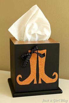 DIY  Tissue Holder  : DIY Halloween Tissue Box Makeover