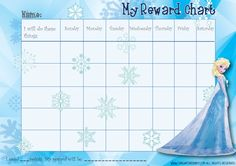 Picture of the free frozen reward chart (Elsa) http://singaporebaby.com/wp-content/uploads/2014/07/Frozen-behaviour-charts.pdf