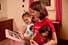 Young girls enjoying an American Girl Doll hotel package, courtesy of the Atlanta Marriott Alpharetta