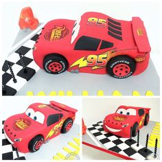 Lightening McQueen cake! Vroooom
