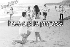 LOVE:    have a cute proposal   