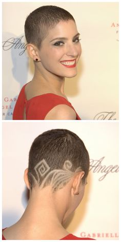Suleika Jaouad sported this cool hair cut at Angel Ball hosted by Gabrielle's Angel Foundation 2012.