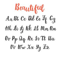 Uppercase and lowercase letters. Hand lettering royalty-free hand draw alphabet uppercase and lowercase letters calligraphy font hand lettering stock vector art & more images of typescript Modern Calligraphy Alphabet, Hand Lettering Alphabet, Capital Letters Calligraphy, Full Alphabet Fonts, Lettering Brush, Lettering Styles, Handwriting Alphabet, Calligraphy Handwriting, Fake Calligraphy