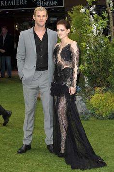 Biancaneve e il Cacciatore Chris Hemsworth Kristen Stewart foto dalla Premiere Mondiale di Londra 2