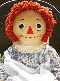 "Baby doll toys of the 70's | Raggedy Ann 32"" Vintage 70's Doll Knickerbocker Apron Rag Calico Dress ..."