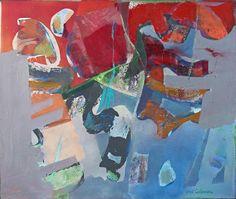 "Redawn Syd Soloman (1917) American 42"" x 4'2 oil on canvas"
