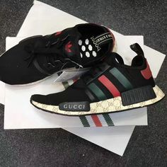 Adidas Authentic NMD Custom Gucci Size 11 BLack/Green/red #AdidasNMDGucci #AthleticSneakers