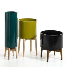 Mid-century style Florian plant pots from La Redoute