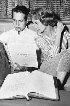 Paul Newman and his wife Joanne Woodward 1958 | © Pleasurephoto Room