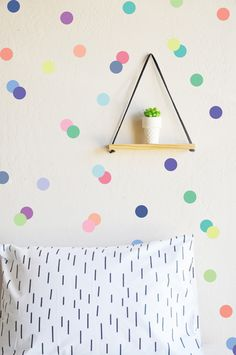 """Ice Cream Palette Dots 3"""" Wall Decal"""