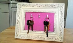 Porta Chaves feito com uma moldura de quadro