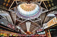 Mercado Sentral groothoek (gemaakt in Valencia)