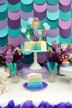 Throw an adorable and fun mermaid party for your little swimmer!