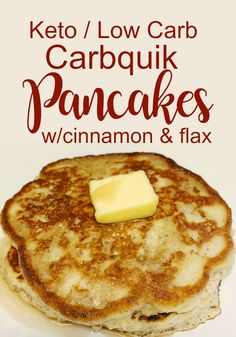 Easy Low Carb Pancakes w/ Cinnamon & Flax Seed Best Low Carb / Keto Pancake Recipe with Cinnamon and Flax Seed – Carbquik low carb baking mix is great for everything from breads to biscuits to pie crust, high fiber, high in taste. Low Carb Pancakes, Pancakes Easy, Low Carb Breakfast, Mexican Breakfast, Keto Foods, Flax Seed Pancakes, Carbquik Recipes, Flax Seed Recipes, Cinnamon Recipes