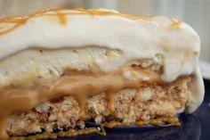 nepečený banánovo-karamelový cake