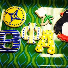 Theta Phi Alpha cookies...cookie cutters are available on the Penguin Shoppe web page!